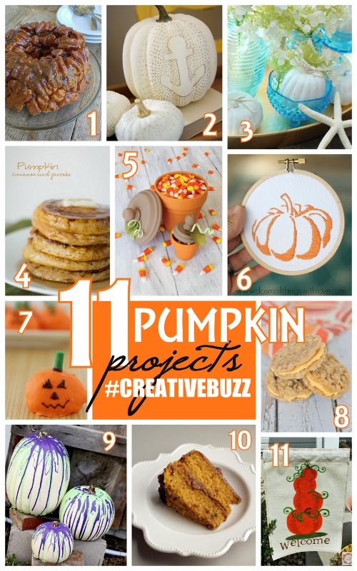 11 Pumpkin Themed Projects and Recipes #Fall