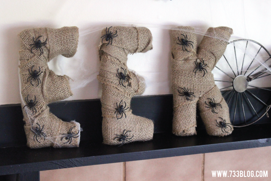 DIY Burlap Wrapped Foam Letters #makeitfun