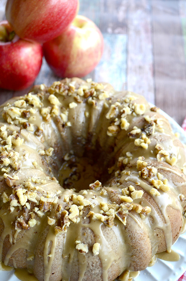 Caramel Apple Bundt Cake Dessert Recipe
