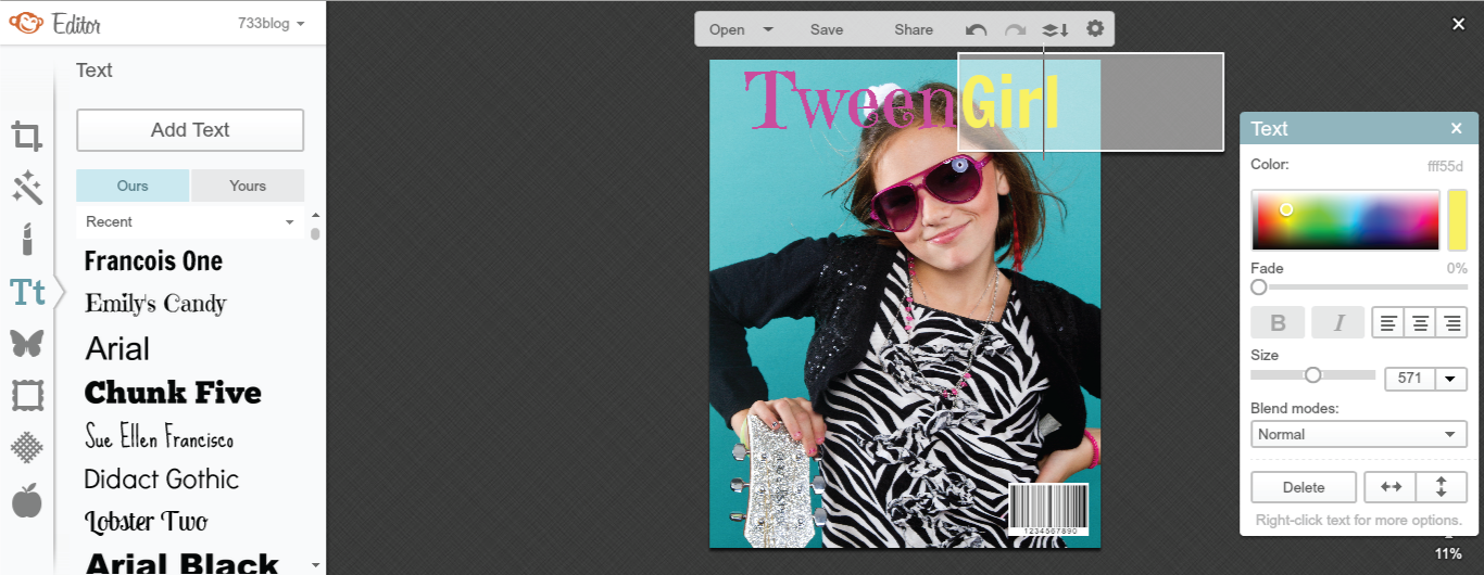 How to make a DIY Magazine Cover in PicMonkey