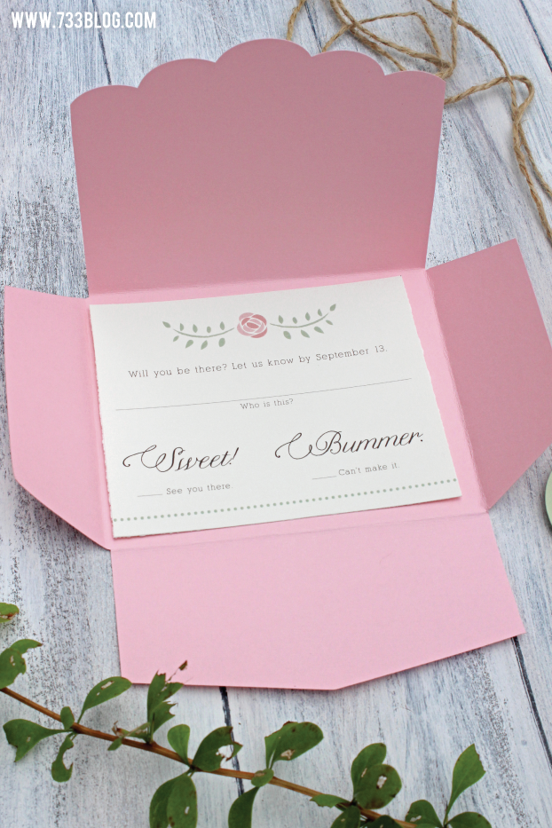 Woodland Celebration RSVP Card