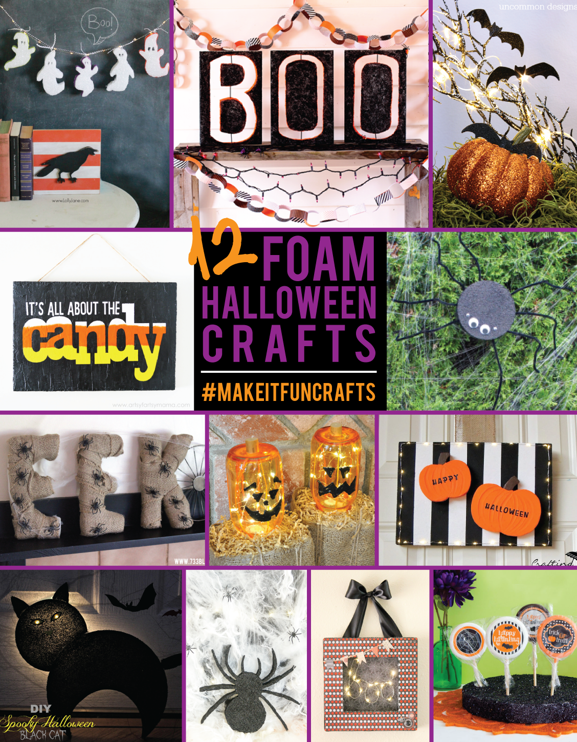 12 Fun Foam Halloween Crafts #makeitfuncrafts