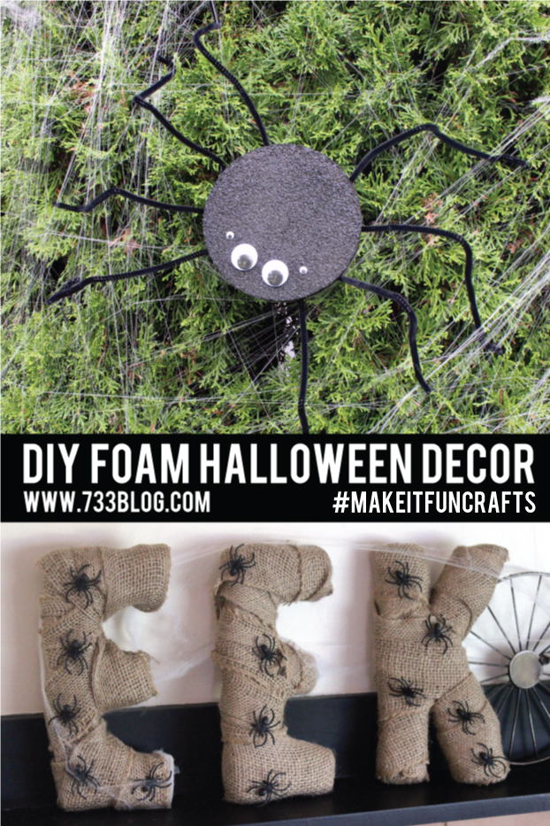 DIY Foam Halloween Decor Ideas
