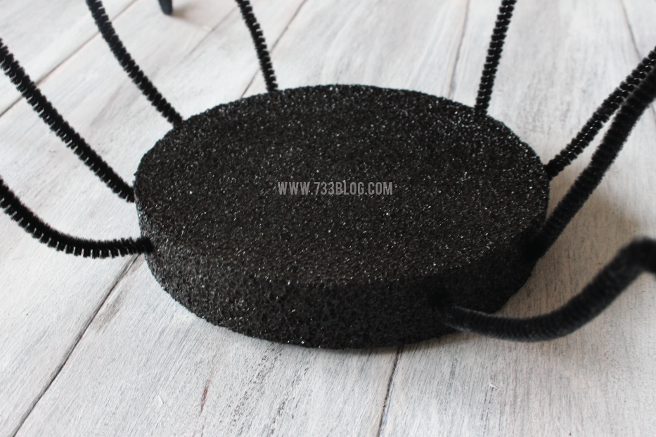 DIY Foam Spider - Perfect for Halloween!