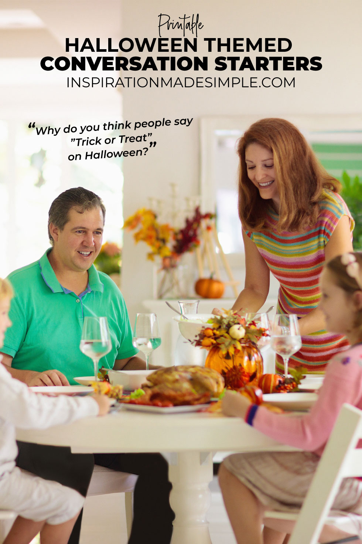 Printable Halloween Conversation Starters