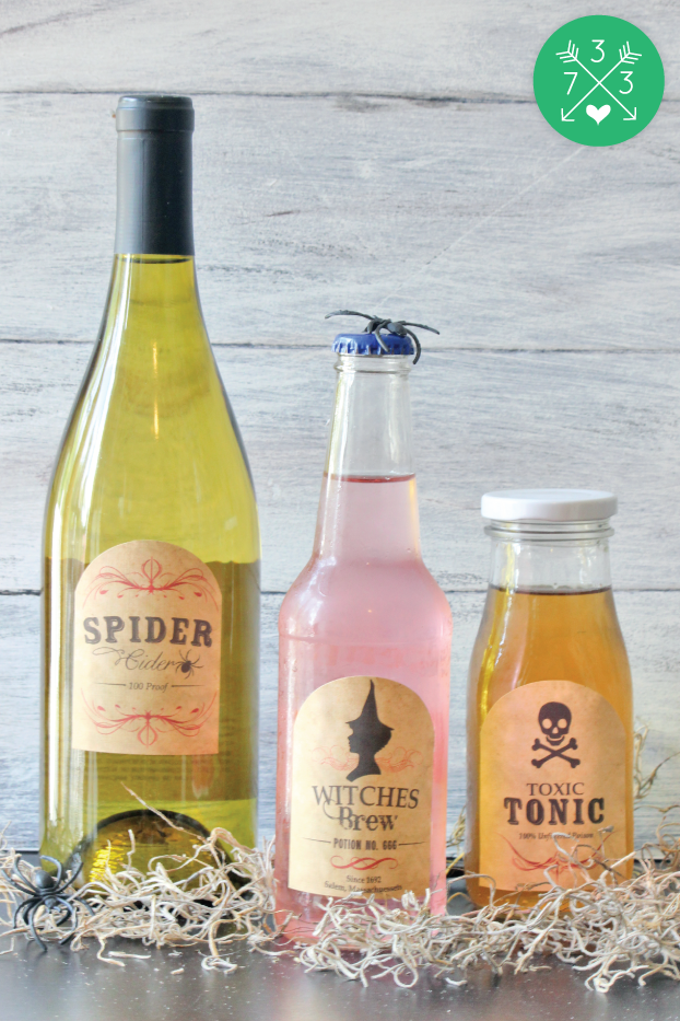 Free Printable Halloween Labels - Fit tons of different size bottles! #avery