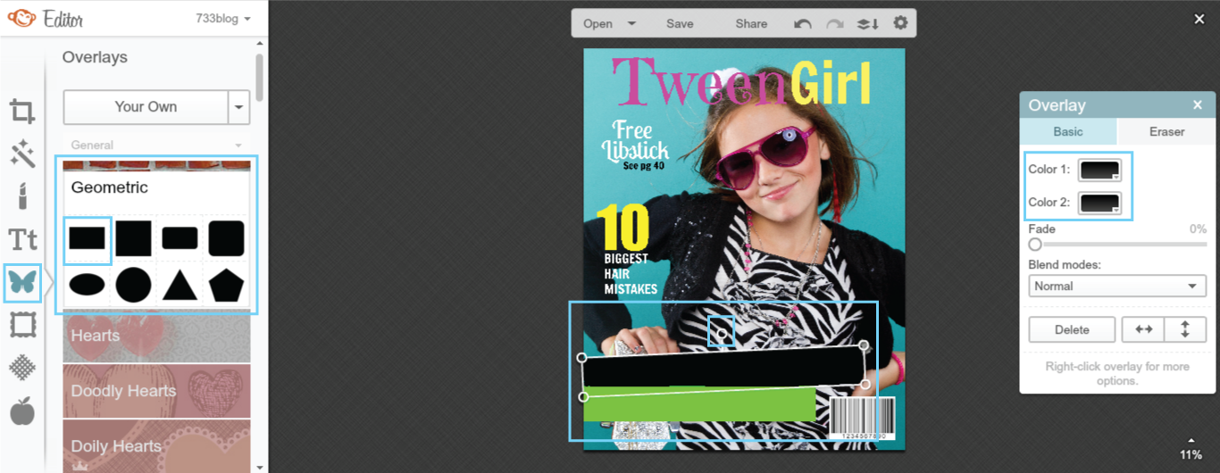 How to make a magazine cover in PicMonkey