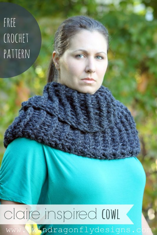 Claire Inspired Crochet Cowl Pattern #Outlander