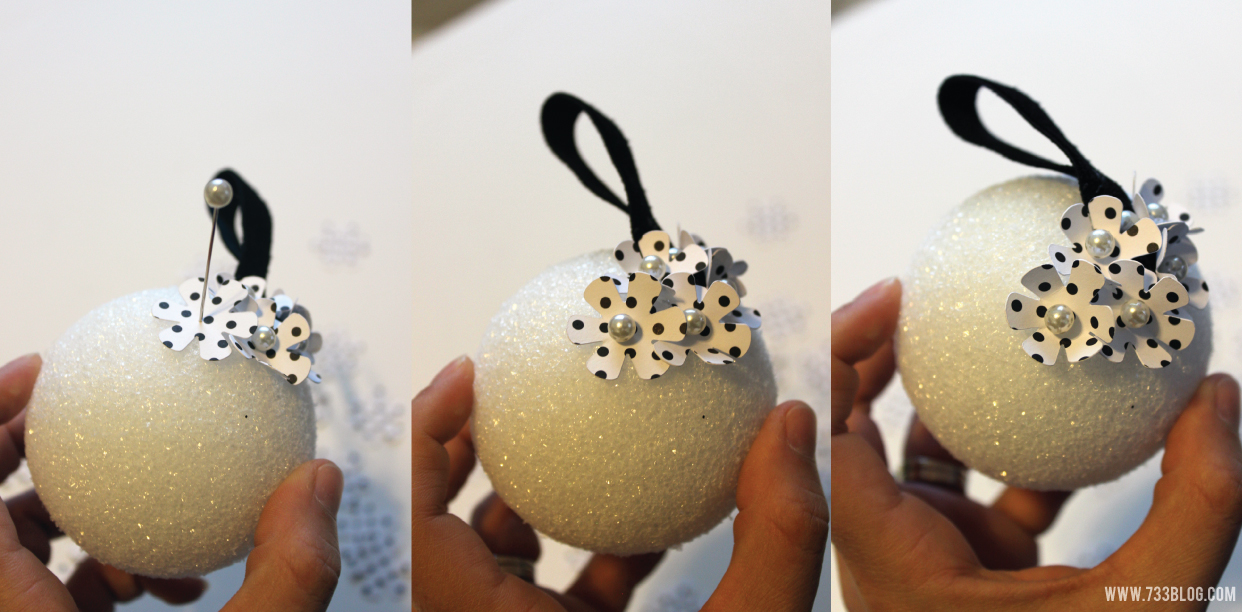 DIY Floral Christmas Ornament