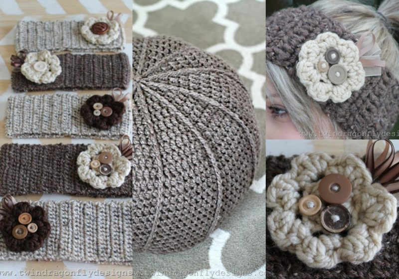 Tons of Free Crochet Patterns - including ear warms and a floor pouf!