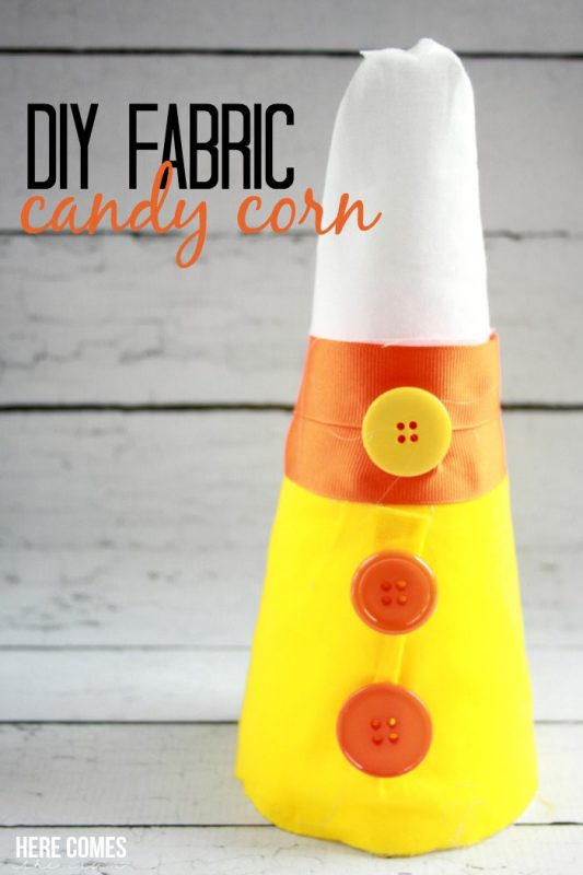 Create this cute fabric #candycorn for your holiday decor! Easy tutorial!