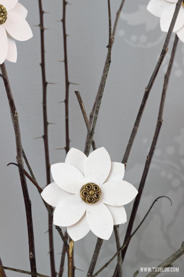 DIY Floral Branch Clip