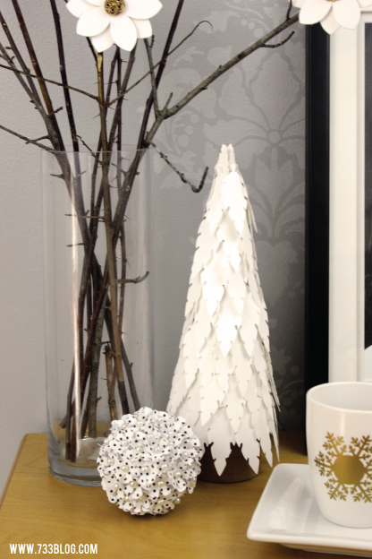 DIY Holiday Feather Tree