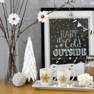 Hot Chocolate Bar and Free Printable