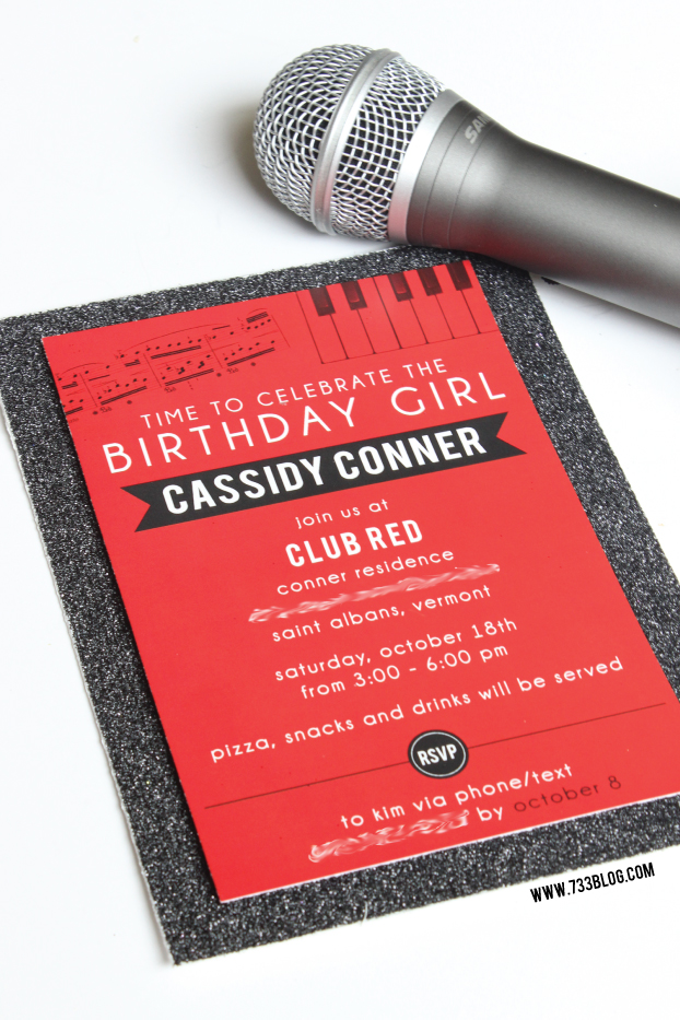 Taylor Swift Club Red Birthday Party Invite