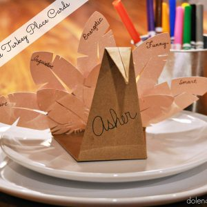 Folded Turkey Place Card