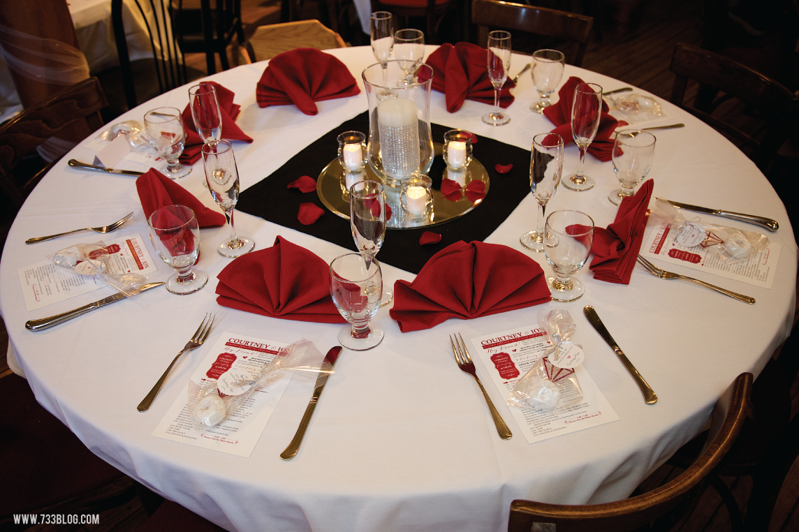 Red, White and Black Reception Table