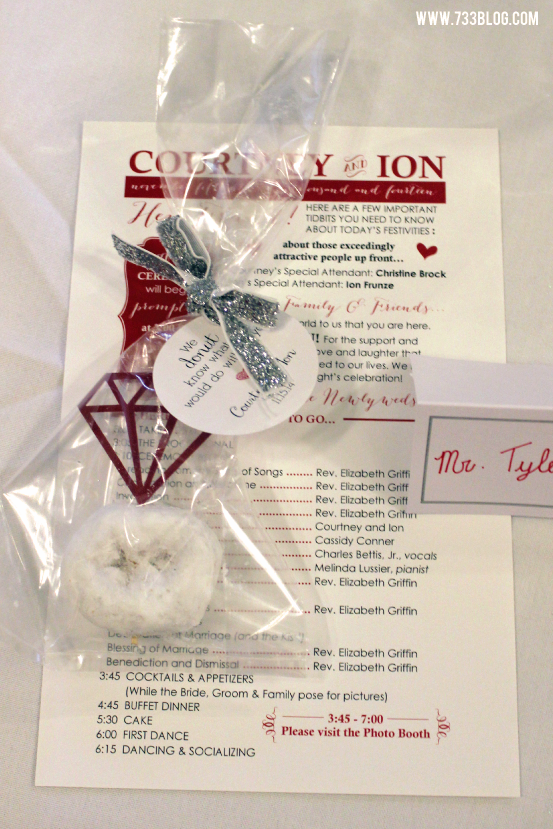 DIY Donut Diamond Favors