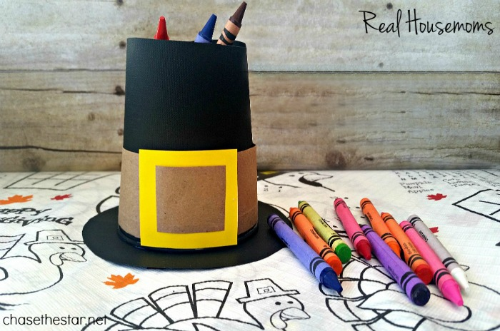 Pilgram Hat Crayons Holder