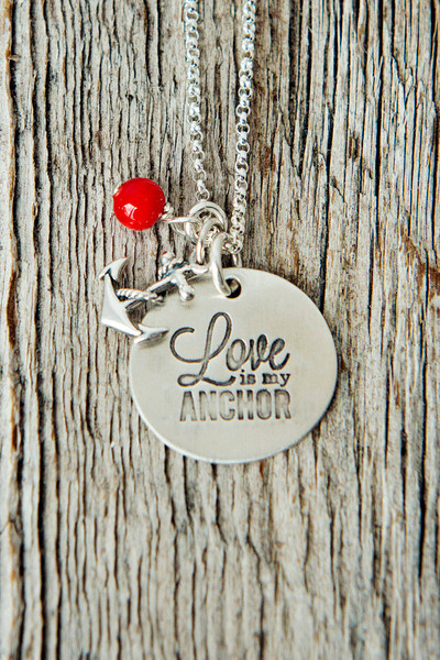 Love is my Anchor Necklace by @733blog via Charmed Collections
