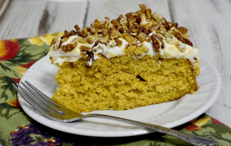 Pumpkin pie cake w cream cheese frosting 2