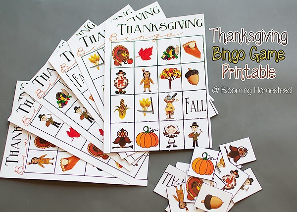 Thanksgiving Printable BINGO