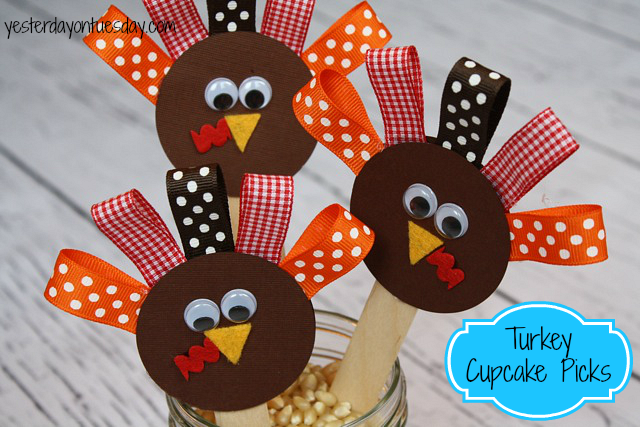 Turkey Cupcake PIcks