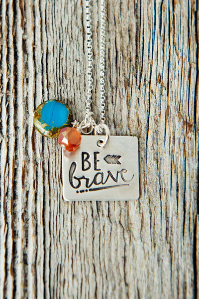 Be Brave Necklace by @733blog via Charmed Collections