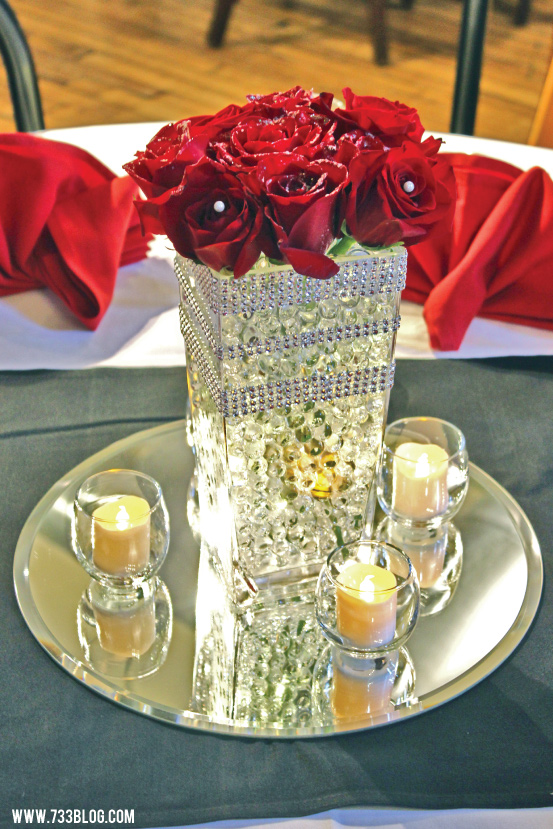 DIY Centerpiece with Roses