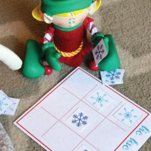Shelf Elf Tic Tac Snow Game