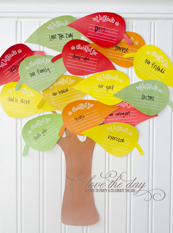 Thanksgiving Thankful Tree - Fun for kids