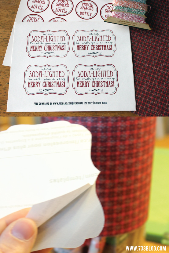 Soda-Lighted to wish you a Very Merry Christmas Printable Label