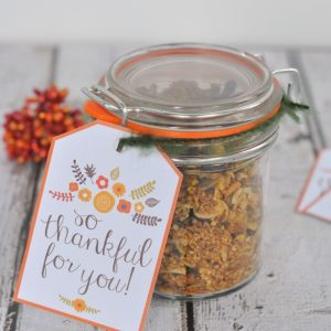 """""""So Thankful for You"""" Floral Gift Tag"""
