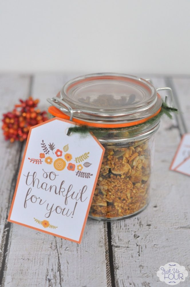 """So Thankful for You"" Floral Gift Tag"