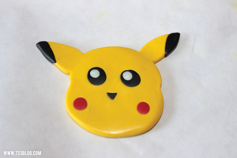 Clay Pikachu Ornament Tutorial
