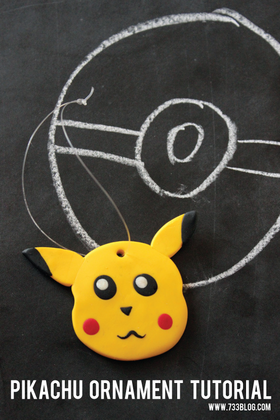 Clay Pokemon Pikachu Ornament