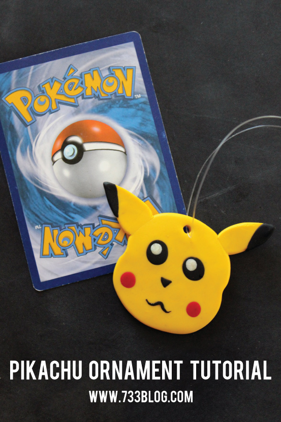 Clay Pokemon Pikachu Ornament by @733blog