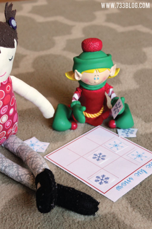 Elf on the Shelf Printable Tic Tac Snow Game