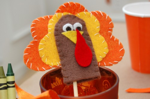 Thanksgiving Turkey Finger Puppets Kids Craft