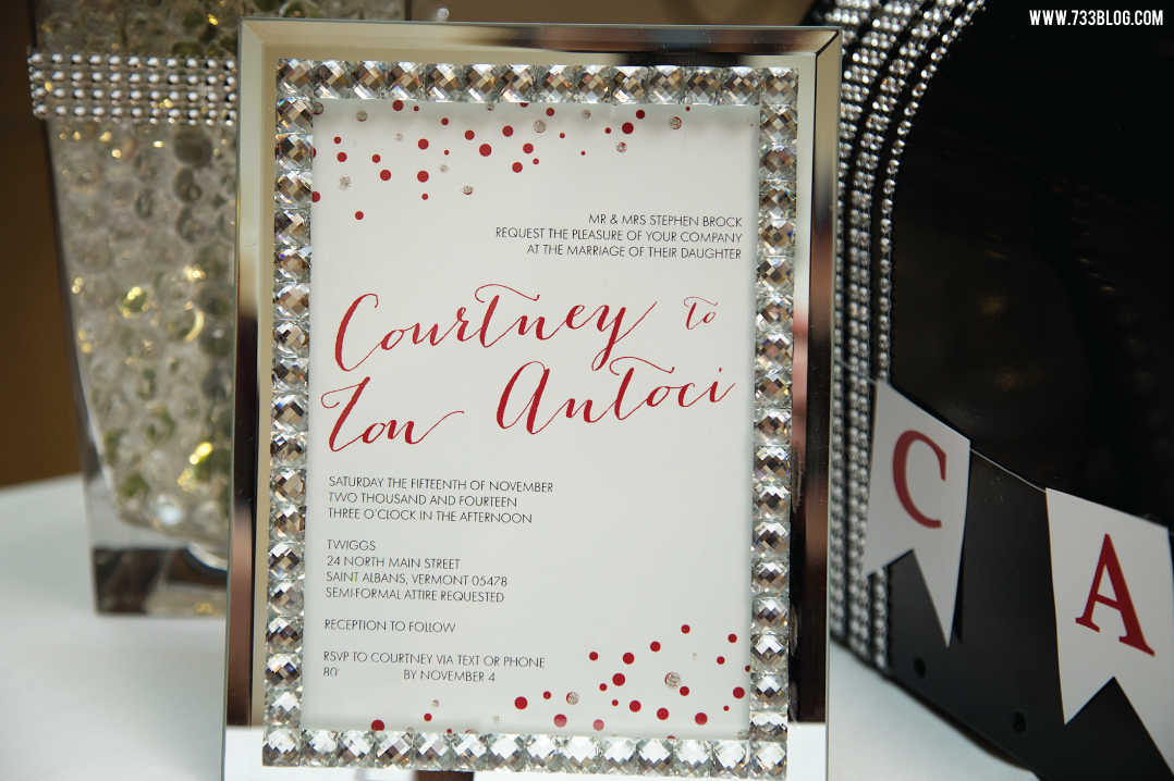 Blinged out wedding invite