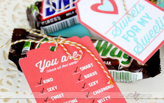 Love Letter Gift Tags - Woo your signification other all year long!