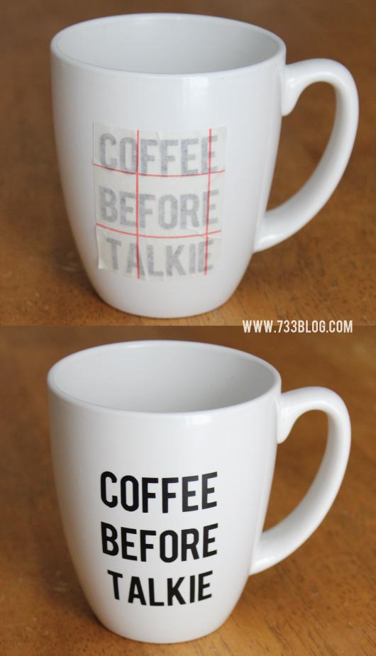 Coffee Lovers DIY Mug #IDelight #ad