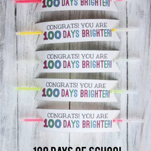 100 Days of School Glow Bracelet