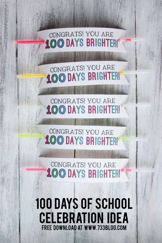 100 Days of School Bracelet Idea