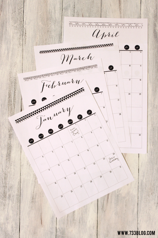 2015 Printable Tribal Themed Calendar