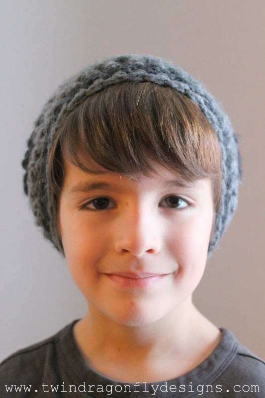 Child Crochet Slouchie Beanie Pattern
