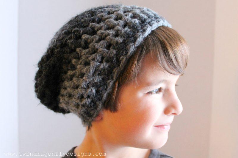Child Crochet Slouchie Beanie