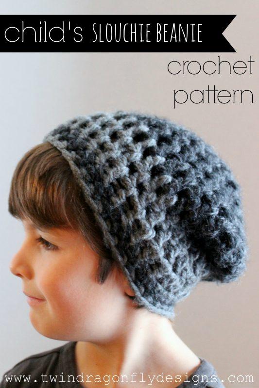 Child Slouchie Beanie Crochet Pattern