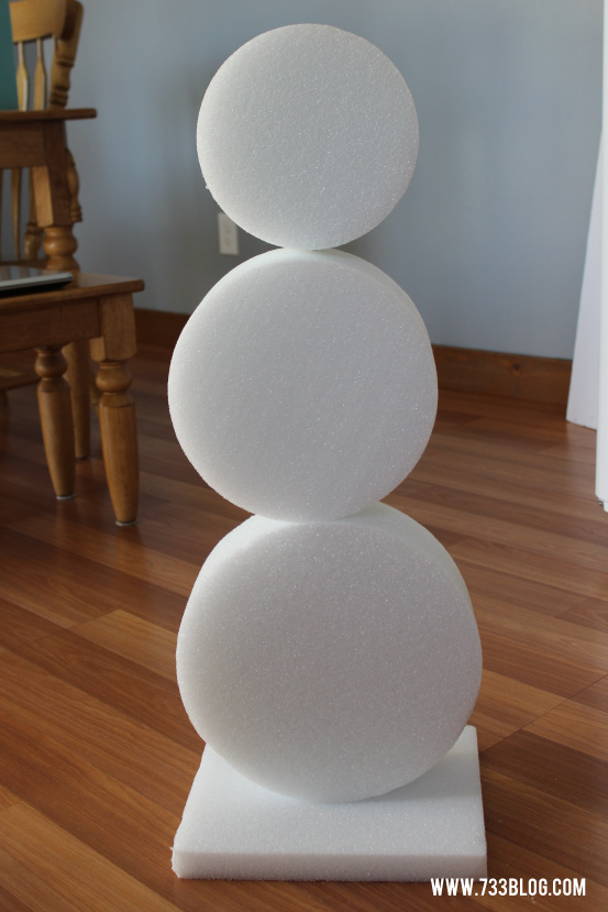 No-Snow Snowman Tutorial
