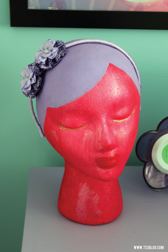 DIY Foam Head Headband Holder